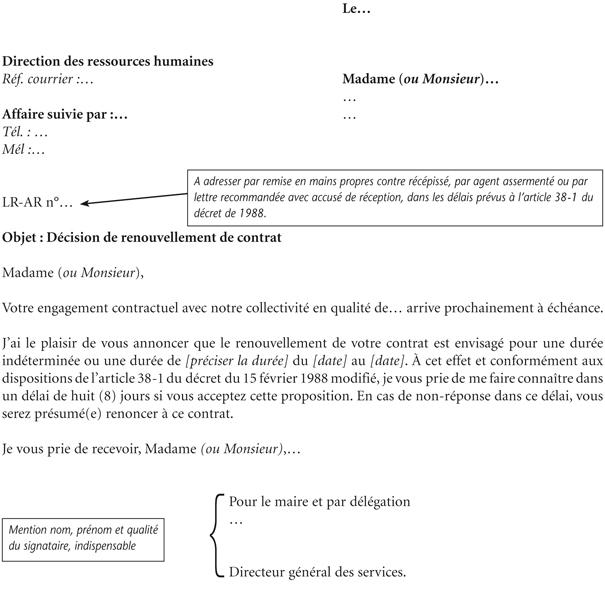 Annexe Ii Modèle De Notification De Renouvellement D