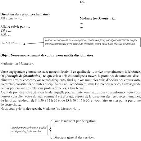 Annexe Iii Modèle De Notification Avant Un Non