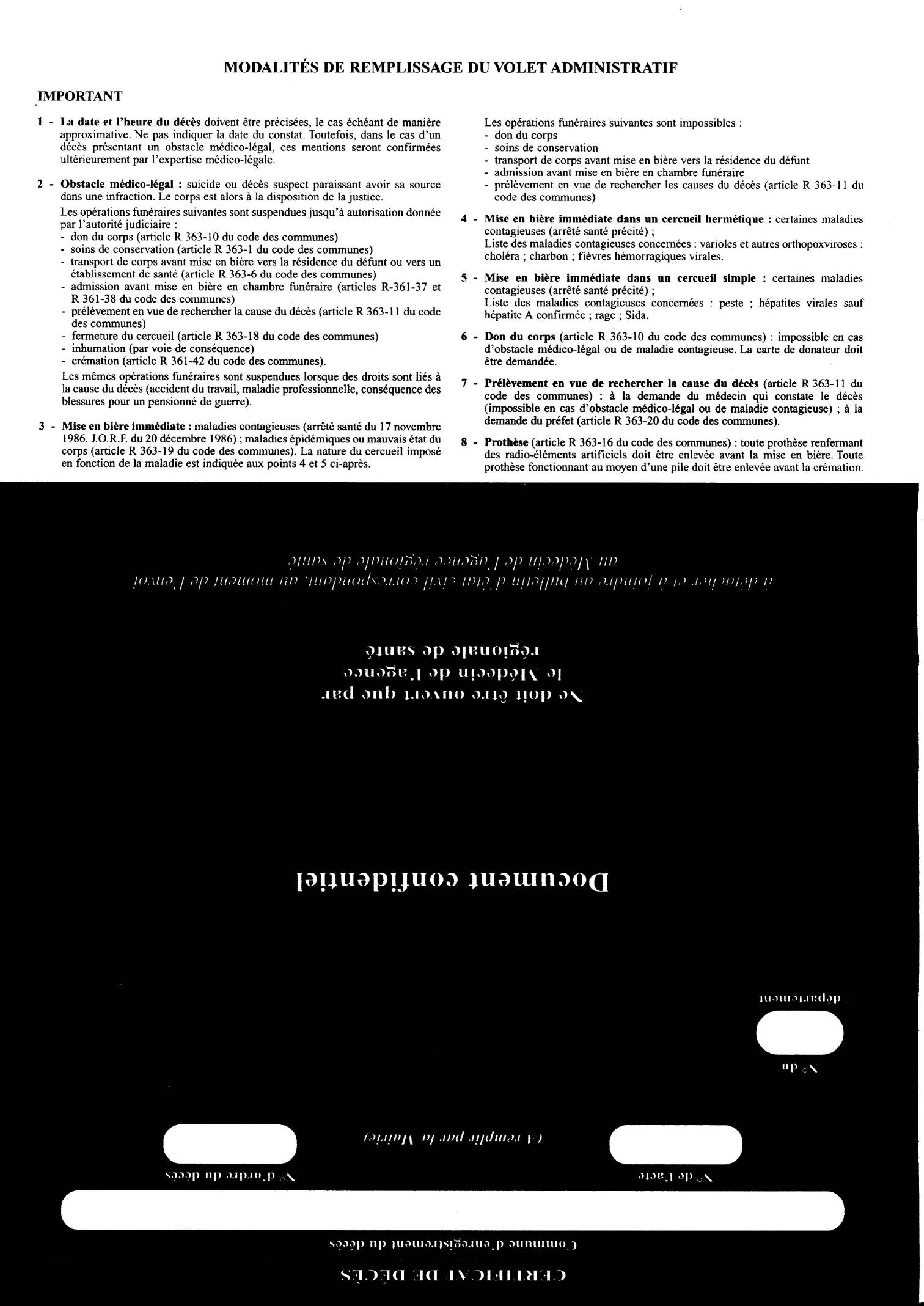 Annexe I Modele De Certificat De Deces Guide Pratique Des